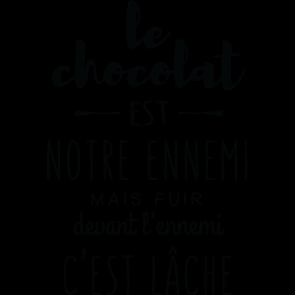 Salle De Bain Phrase ~ sticker le chocolat est notre ennemi stickers citation texte