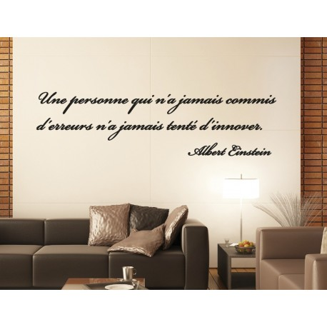 Sticker citation d 39 albert einstein 1 stickers citation texte opensticker - Stickers muraux citations chambre ...