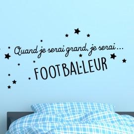 Sticker Quand je serai grand, je serai ... Footballeur