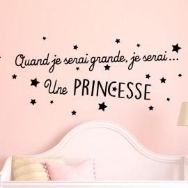 Sticker Quand je serai grande, je serai ... Une princesse