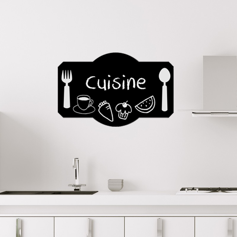 sticker ardoise design plateau de cuisine. Black Bedroom Furniture Sets. Home Design Ideas