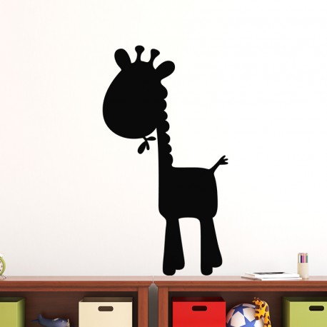 Sticker ardoise Caricature giraffe