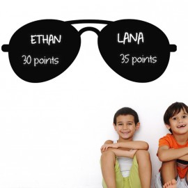 Sticker ardoise Design lunettes de soleil