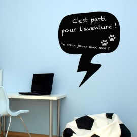 Sticker ardoise Bulle de conversation