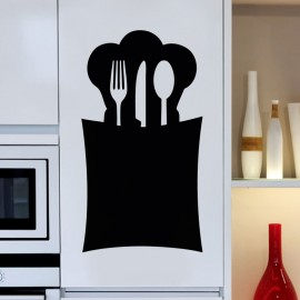 Sticker ardoise Design range-cuillère