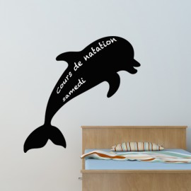 Sticker ardoise Silhouette dauphin