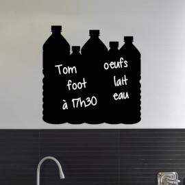 Sticker ardoise Design bouteilles