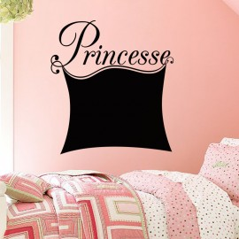 Sticker ardoise Design Princesse