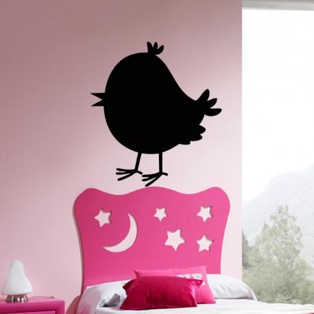 Sticker ardoise Caricature petit oiseau