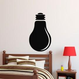 Sticker ardoise Design ampoule