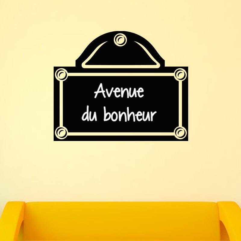 sticker ardoise plaque de rue. Black Bedroom Furniture Sets. Home Design Ideas
