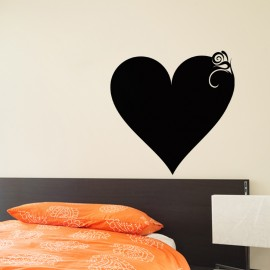 Sticker ardoise Design coeur classique