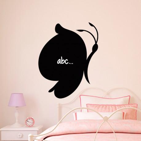 Sticker ardoise Caricature papillon