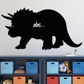 Sticker ardoise Silhouette Tricératops