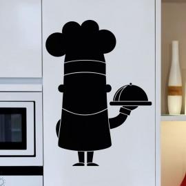 Sticker ardoise Caricature Chef cuisinier
