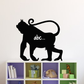 Sticker ardoise Silhouette singe
