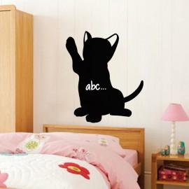 Sticker ardoise Silhouette chaton