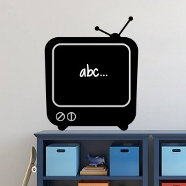 Sticker ardoise Télévision ancienne
