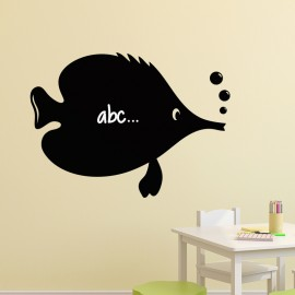 Sticker ardoise Caricature poisson