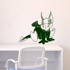 Sticker Caricature dragon ailé