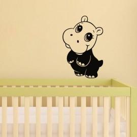 Sticker Petit hippopotame à deux pattes