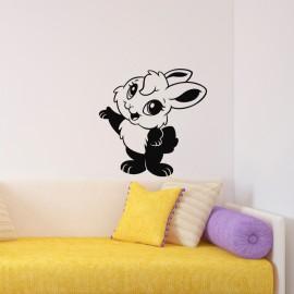 Sticker Caricature lapin à deux pattes
