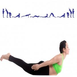 Sticker design yoga
