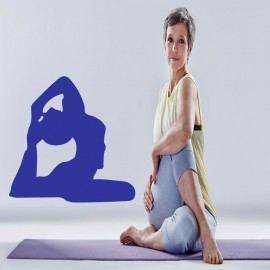 Sticker symbole yoga