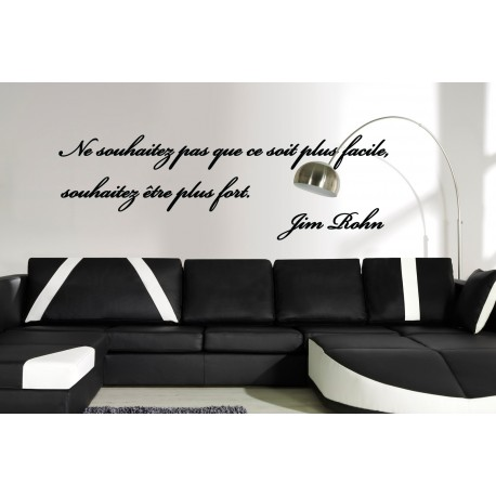 Sticker citation de jim rohn stickers citation texte for Citation salle de bain