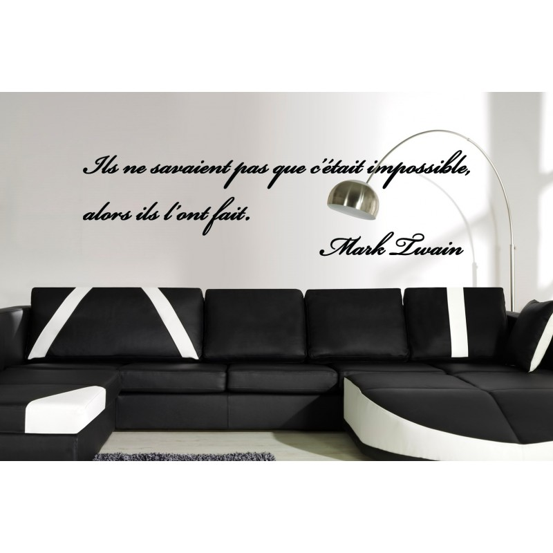 sticker citation de mark twain stickers citation texte opensticker. Black Bedroom Furniture Sets. Home Design Ideas