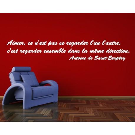 Sticker citation d 39 antoine de saint exupery 3 stickers for Salon saint exupery