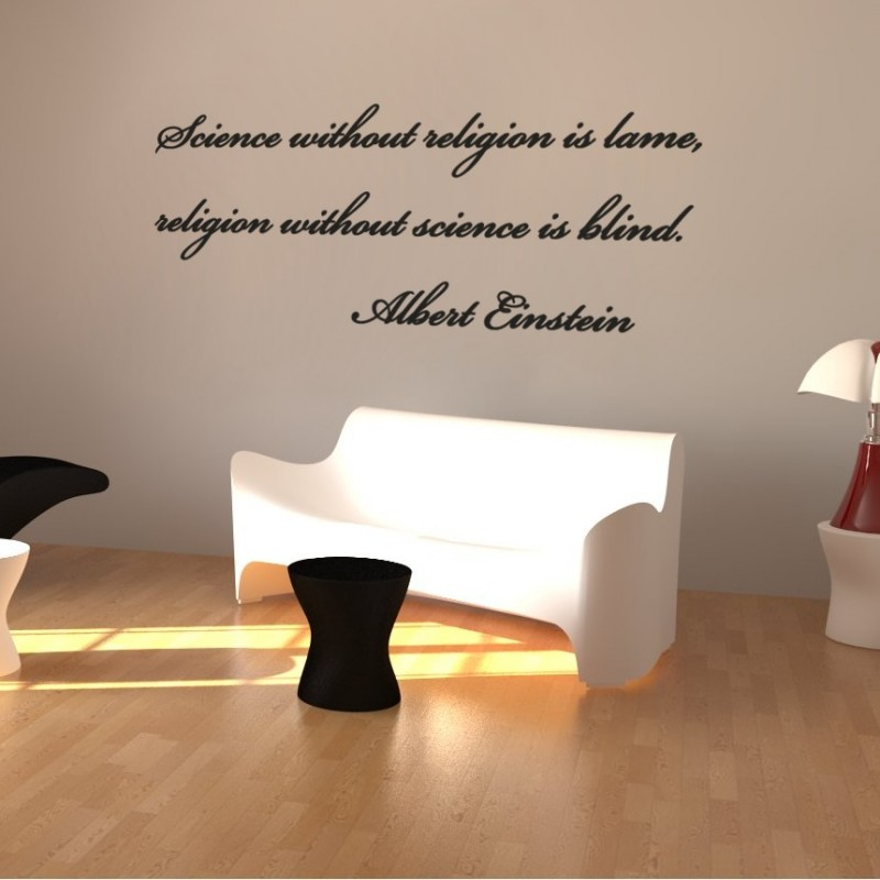 sticker citation en anglais d 39 albert einstein 2 stickers citation texte opensticker. Black Bedroom Furniture Sets. Home Design Ideas