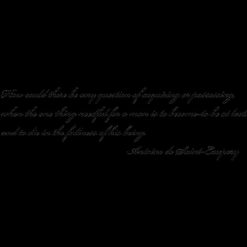 sticker citation en anglais d 39 antoine de saint exupery 1 stickers citation texte opensticker. Black Bedroom Furniture Sets. Home Design Ideas