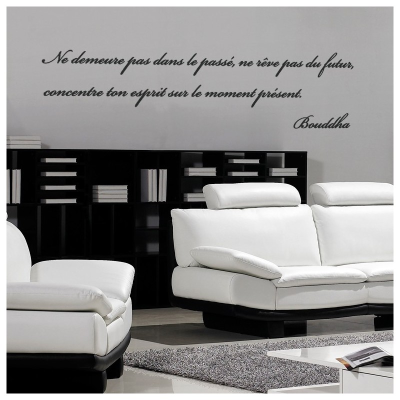Sticker citation de bouddha 3 stickers citation texte for Stickers muraux pour chambre adulte