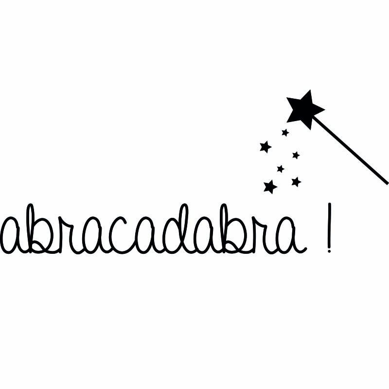 Sticker abracadabra stickers citation texte opensticker for Abrakadabra salon