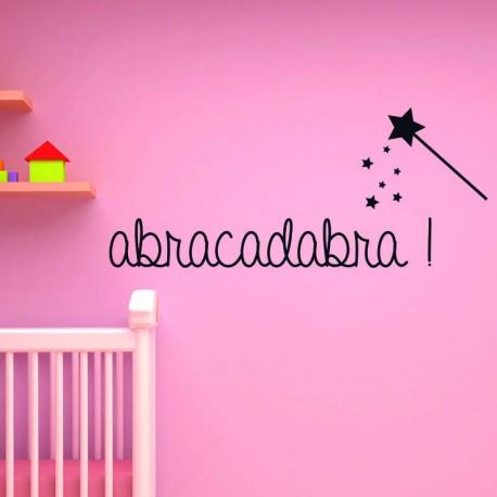 Sticker Abracadabra, Opensticker, boutique en ligne de stickers muraux inspirés et inspirant !
