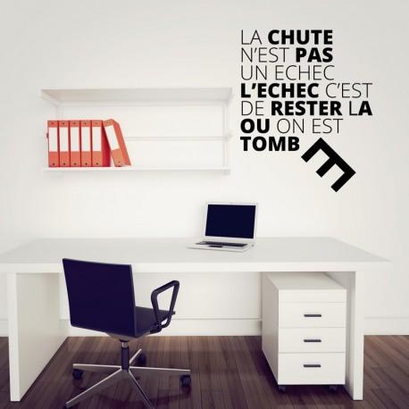 Sticker La chute n'est pas un échec..., Opensticker, boutique en ligne de stickers muraux inspirés et inspirant !