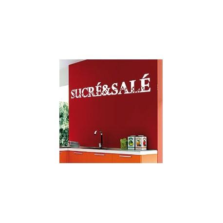 Sticker Sucré & Salé - Opensticker, boutique en ligne de stickers muraux inspirés et inspirant !