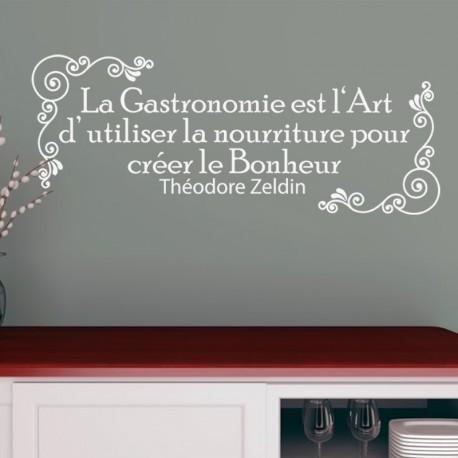 Sticker La gastronomie est l'art d'utiliser la nourriture pour le bonheur - Théodore Zeldin