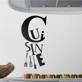 Sticker Cuisine et les ustensiles - Opensticker, boutique en ligne de stickers muraux inspirés et inspirant !