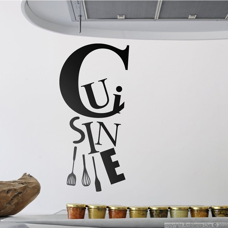 Sticker cuisine et les ustensiles stickers citation for Deco cuisine dessin