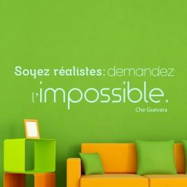 Sticker Soyez réalistes : demandez l'impossible - Che Gevara