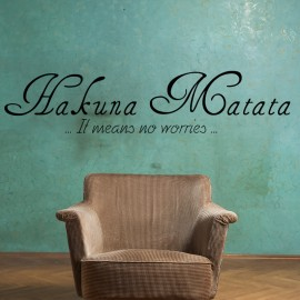 Sticker Hakuna Matata - Opensticker, boutique en ligne de stickers muraux inspirés et inspirant !