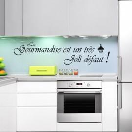 """""""Sticker La gourmandise est un très joli défaut """" - Opensticker, boutique en ligne de stickers muraux inspirés et inspirant !"""