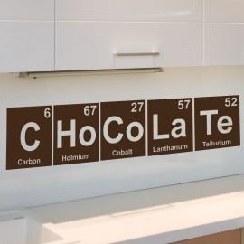 Sticker déco chocolat / éléments du tableau périodique