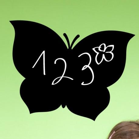 Sticker ardoise papillon - Opensticker, boutique en ligne de stickers muraux idéales pour garder une âme d'enfant !