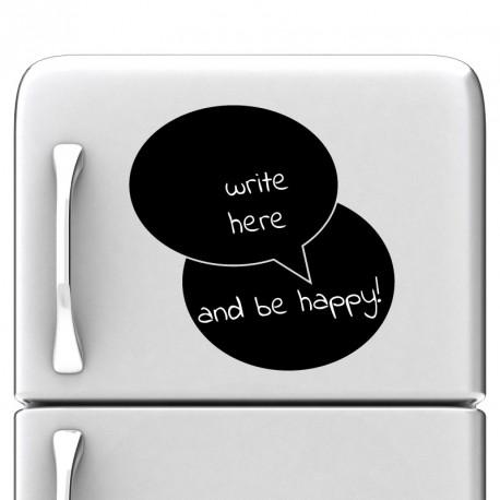 Sticker Ardoise bulles dialogue - Opensticker, boutique en ligne de stickers muraux idéales pour garder une âme d'enfant !