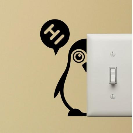 Sticker pingouin en 2 partis - Opensticker, boutique en ligne de stickers muraux idéales pour garder une âme d'enfant !