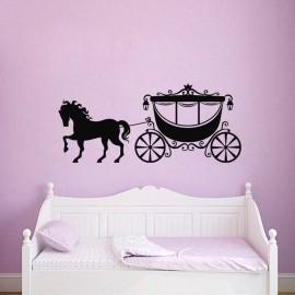 Sticker Défilé de cheval avec son carrosse - Opensticker, boutique en ligne de stickers muraux !