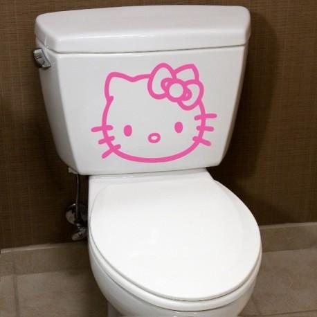 Stickers hello Kitty visage - Opensticker, boutique en ligne de stickers muraux idéales pour garder une âme d'enfant !